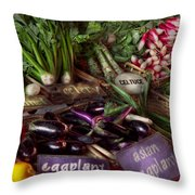 Food - Vegetables - Very Fresh Produce  Throw Pillow by Mike Savad