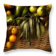 Food - Veggie - Sage Advice  Throw Pillow by Mike Savad