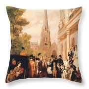 For Better For Worse Throw Pillow by William Powell Frith
