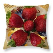 For Dessert II Throw Pillow by Zina Stromberg
