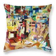 for we have already merited to receive our Holy Torah 4 Throw Pillow by David Baruch Wolk