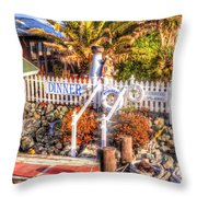 Forbes Island Throw Pillow by Bill Gallagher