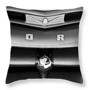 Ford F-1 Pickup Truck Grille Emblem Throw Pillow by Jill Reger