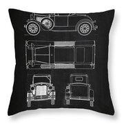Ford Model A Throw Pillow by Mark Rogan