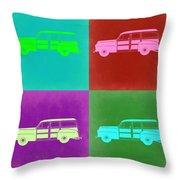 Ford Woody Pop Art  Throw Pillow by Naxart Studio