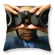 Foresight Throw Pillow by Darren Greenwood