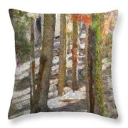 Forest for the Trees Throw Pillow by Jeff Kolker