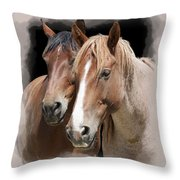 Forever Friends Throw Pillow by Daniel Hagerman
