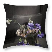Forgotten Flowers Throw Pillow by Svetlana Sewell