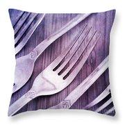Forks Throw Pillow by Priska Wettstein