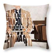 Forrest Gump - Tom Hanks Throw Pillow by Ayse Deniz