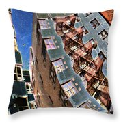 Fort Washington Avenue Building Throw Pillow by Sarah Loft