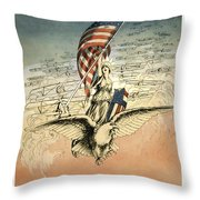Forward America Throw Pillow by Aged Pixel