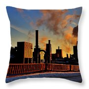 Foundry Throw Pillow by Benjamin Yeager
