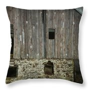 Four Broken Windows Throw Pillow by Joan Carroll