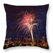 Fourth Of July Throw Pillow by John K Sampson