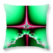 Fractal 14 Star Of Bethlehem  Throw Pillow by Rose Santuci-Sofranko