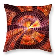 Fractal - Abstract - The Constant Throw Pillow by Mike Savad