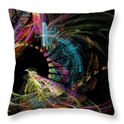Fractal - Black Hole Throw Pillow by Susan Savad
