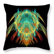 Fractal - Insect - I Found It In My Cereal Throw Pillow by Mike Savad