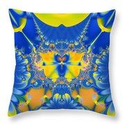 Fractal Owl Throw Pillow by Ian Mitchell