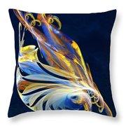 Fractal - Sea Creature Throw Pillow by Susan Savad