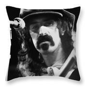 Frank Zappa - Watercolor Throw Pillow by Joann Vitali