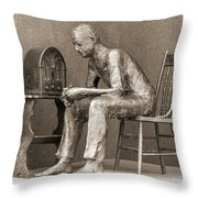 Franklin Delano Roosevelt Memorial - Bits And Pieces 5 Throw Pillow by Mike McGlothlen