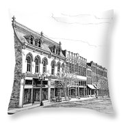 Franklin Main Street Throw Pillow by Janet King
