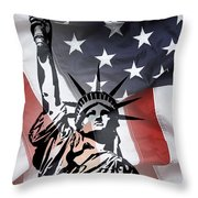 Freedom For Citizens Throw Pillow by Daniel Hagerman