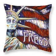 Freedom Throw Pillow by Linda Mears