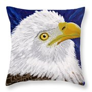 Freedom's Hope Throw Pillow by Vicki Maheu