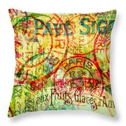 French Accent Throw Pillow by Bonnie Bruno