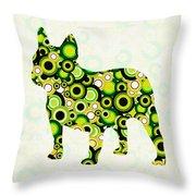 French Bulldog - Animal Art Throw Pillow by Anastasiya Malakhova
