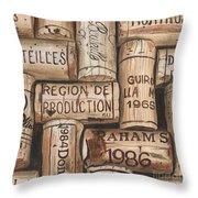 French Corks Throw Pillow by Debbie DeWitt