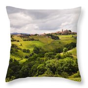 French Countryside Throw Pillow by Allen Sheffield