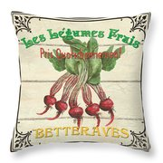 French Vegetable Sign 4 Throw Pillow by Debbie DeWitt