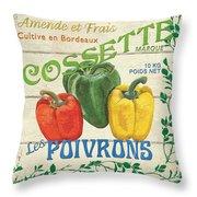 French Veggie Sign 4 Throw Pillow by Debbie DeWitt