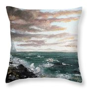 Frenchman's Bay Throw Pillow by Lee Piper