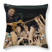 Frenzy At Fenway Throw Pillow by Jeff Ross