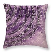 Frequency Increase Original Painting Sold Throw Pillow by Sol Luckman