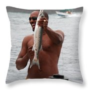 Fresh Catch Of Fish Castries St. Lucia Throw Pillow by Jason O Watson