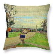 Fresh Eggs Throw Pillow by Deborah Benoit