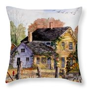 Fresh Eggs For Sale Throw Pillow by Marilyn Smith