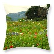 FRESH FLOWERS Throw Pillow by Joe Jake Pratt