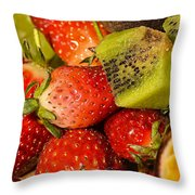 Fresh Fruit Salad Throw Pillow by Tomi Junger