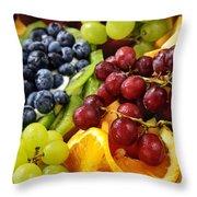 Fresh Fruits Throw Pillow by Elena Elisseeva