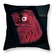 Fresh Ground Zombie Meat - Its What's For Dinner Throw Pillow by Edward Fielding