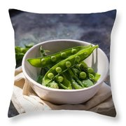 Fresh Peapods Throw Pillow by Edward Fielding