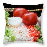 Fresh Vegetables Throw Pillow by Oscar Gutierrez